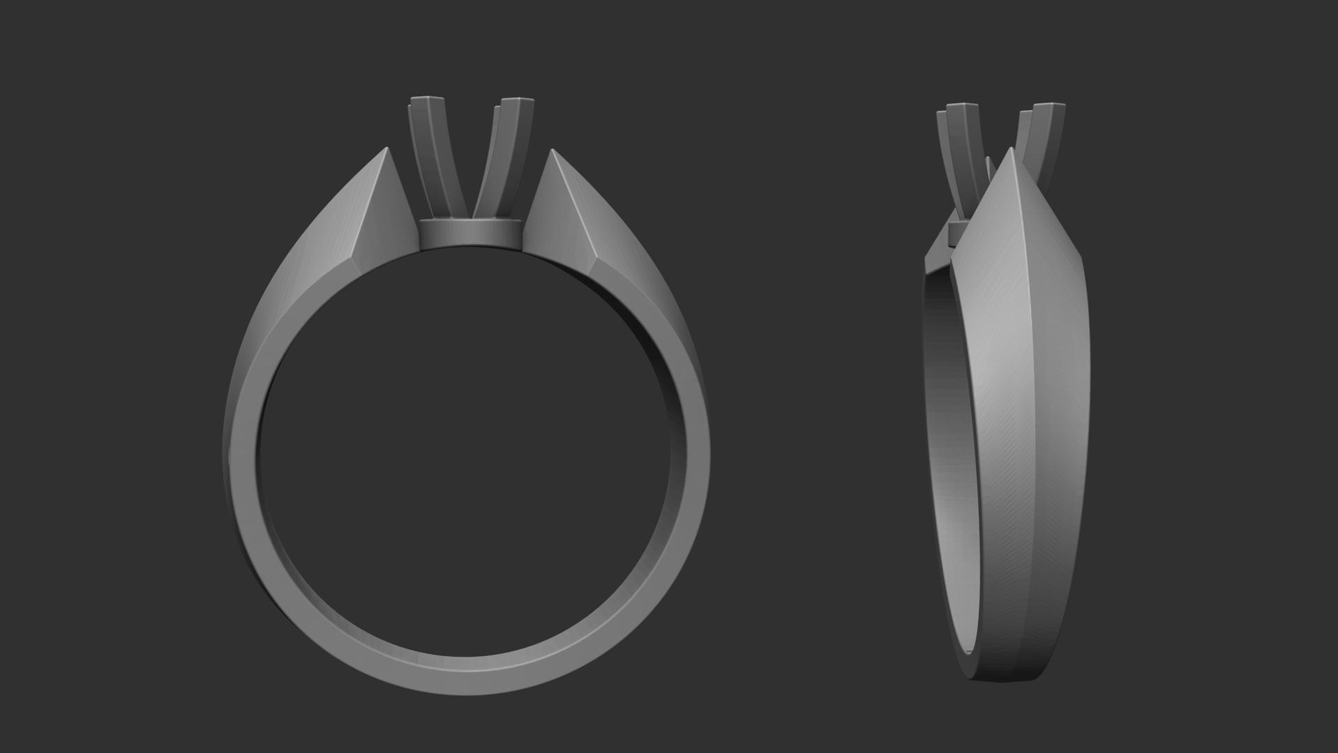 3D jewellery diamond ring modell model