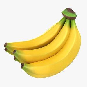 realistic banana bunch model