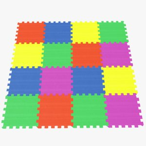 3D real foam floor tiles