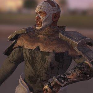 warrior strong fighter 3D model