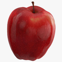 3D red chief apple 02 model