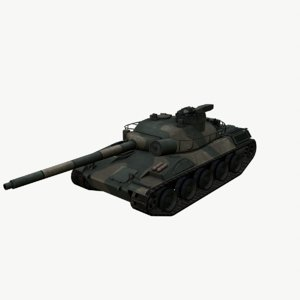 main battle tank 3D model