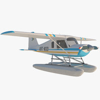 3D cartoon aircraft floatplane toy model