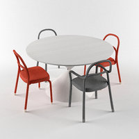 midj clessidra table chair 3D model