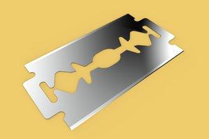 3D razor bladed tool shaving model