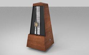 stylish metronome 3D model