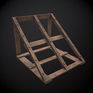 3D weapon rack model