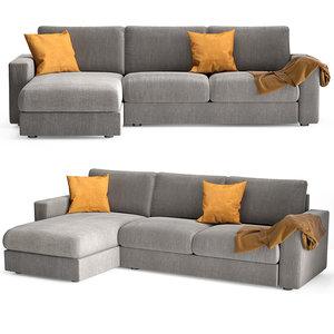 sofa alberta salotti togo 3D