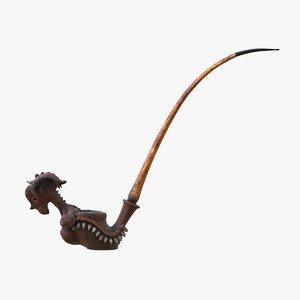 3D model viking dragon pipe