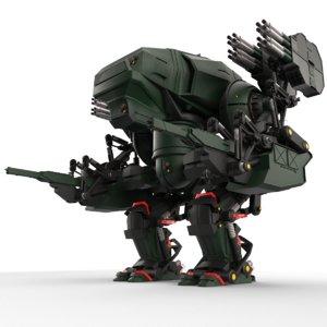 3D bot military robot model