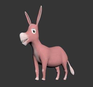 cartoon donkey 3D model