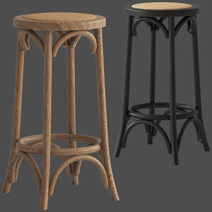cult furniture harrington bar stool 3D model