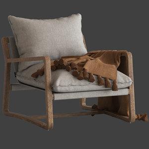 3D model coco republic bungalow chair