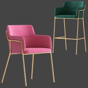 cult furniture harriet chair stool model