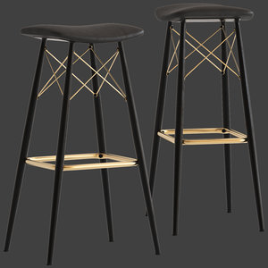 cult furniture camila bar stool 3D model