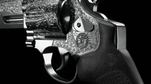 revolver modern 3D model