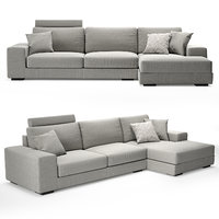 sofa albertasalotti broadway 3D model