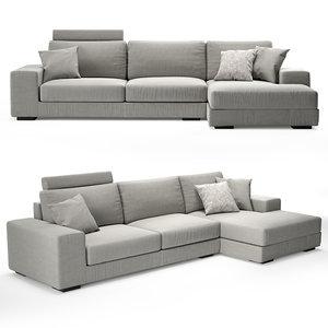 sofa albertasalotti broadway 3D model