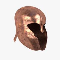 3D model achilles helmet realistic-
