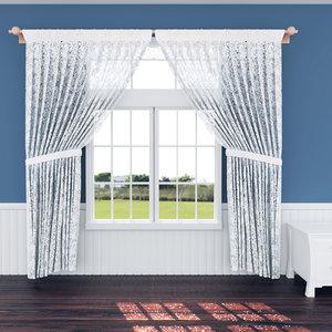 texturing curtain 3D model