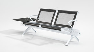 3D waiting bench model