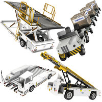 airport baggage loader tractor 3D model