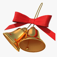 holiday christmas bell bow 3D