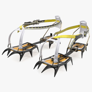 ice grippers walking crampons 3D model