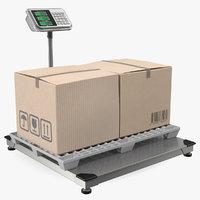 3D warehouse scale plastic pallet model