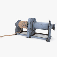 3D model mooring winches