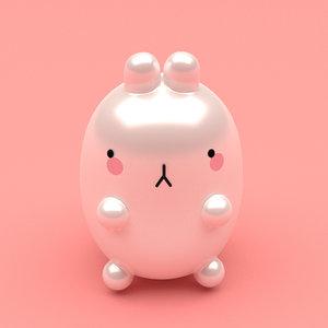 3D bunny toy model
