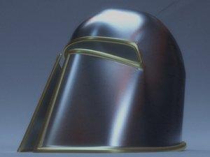 3D helmet medieval