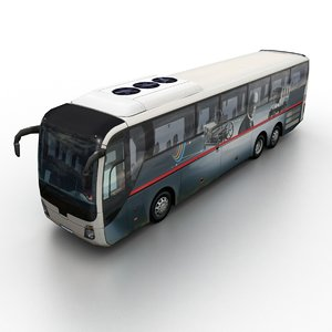generic coach traffic 3D