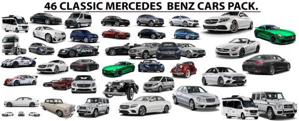 3D model 46 mercedes pack car