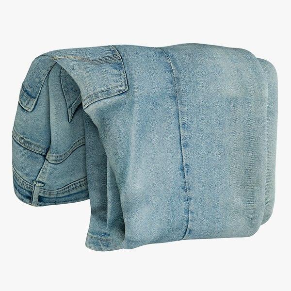 3D model realistic jeans blue v4