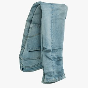 3D realistic jeans blue v2 model