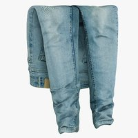 realistic jeans blue v3 3D