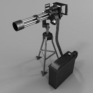 3D model m134 minigun