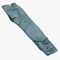 3D realistic jeans blue v6