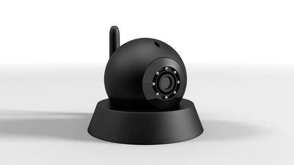 3D model wireless webcam camera security