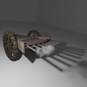 3D machine gun leonardo da