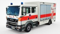 generic european ambulance truck 3D model