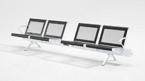 3D model waiting bench