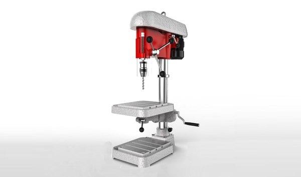 3D drill machine model
