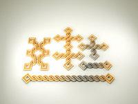 armenian ancient ornament stl 3D model