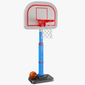 3D real kids basketball hoop