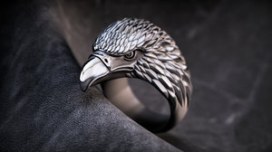 jewellery ring eagle modell 3D