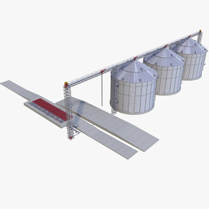 3D granary factory model