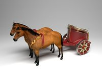 roman war chariot model