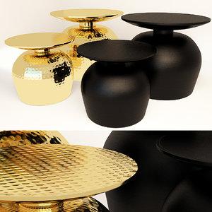 3D model set coffee tables